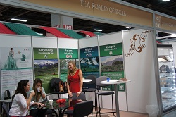 Visitors enjoying tea at the Tea Board of India lounge at India Show, Las Vegas, 1-4 June, 2012