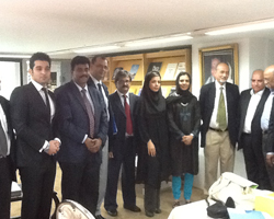 The tea delegation with the Indian Ambassador to Iran