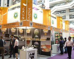 During the four days exhibition the Tea Board pavilion attracted lot of footfall